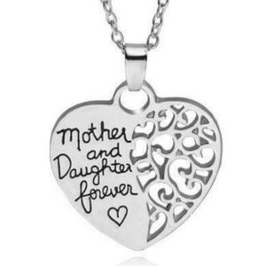Jewelry - 3/30 Mother & Daughter Heart Shaped Necklace